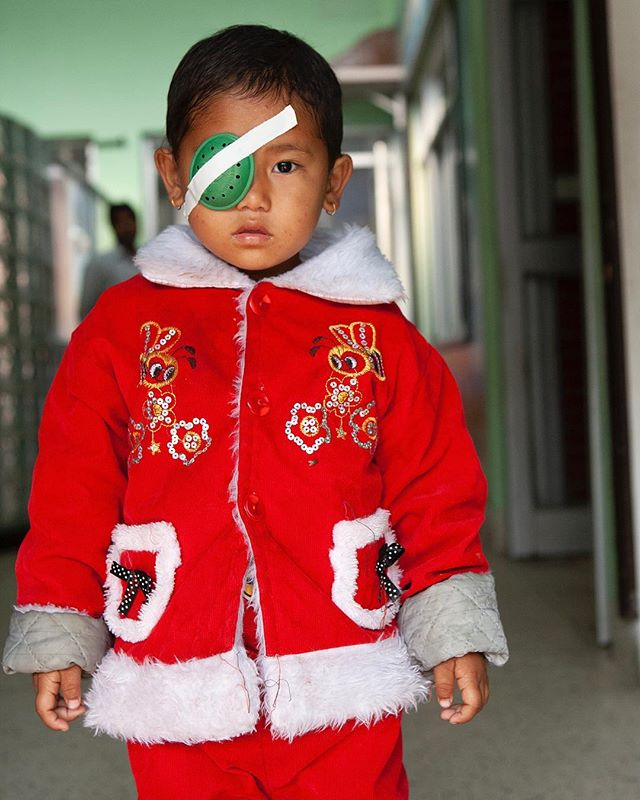 Lumbini Eye Hospital, Nepal 2013. Just turned a corner and there she was. From mine to yours, Happy Holidays one and all. . . #happyholidays