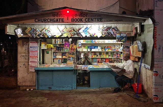 Railway bookshop. Mumbai, India 2019. . . #smallshops #dailynews #extraextra #india #iphonography #instatravel