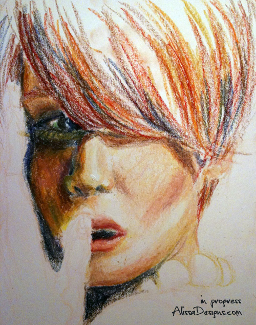 Back to natural media. Tonight's work-in-progress, in oil pastel.   Fun fact: I'm still using the same set of oil pastels that I had in middle school. Time for an upgrade?