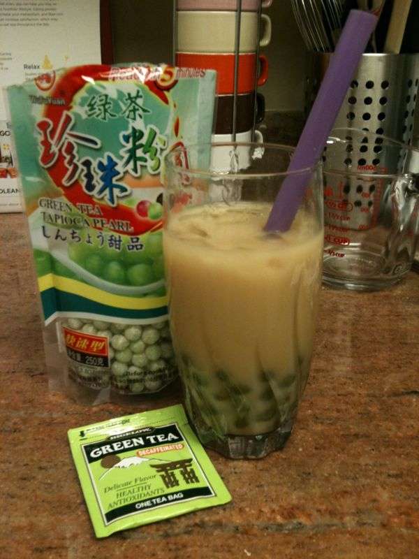 Success! Today I made bubble tea.