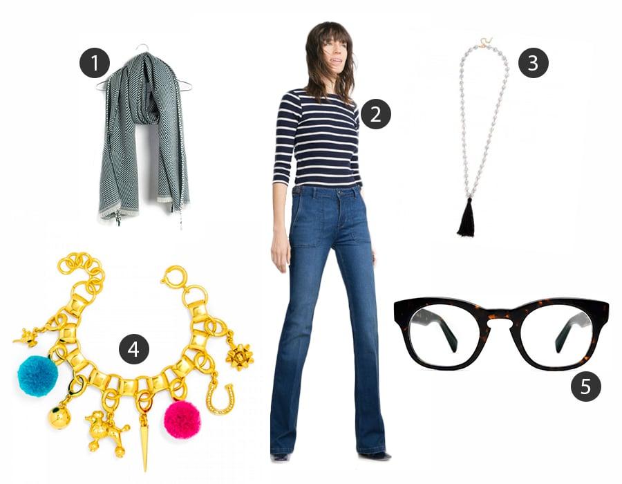 1  Madewell , 2  Zara , 3  Baublebar , 4  Baublebar , 5  Warby Parker