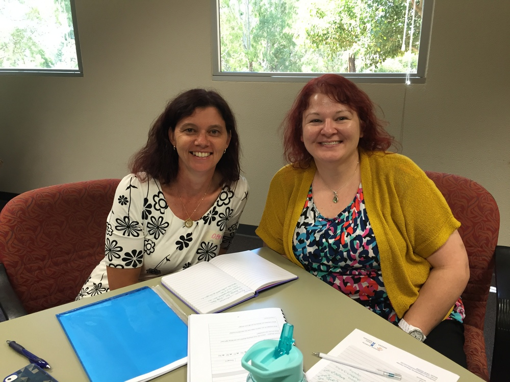Debra Wunke, participant in PIRSA Stepping into Leadership with her mentor, Amanda Underwood, Senior Policy Officer, Office for Women.