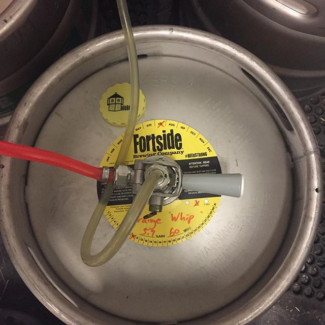 New on tap @fortsidebrewing #beer #hazyipa #pnwbrews