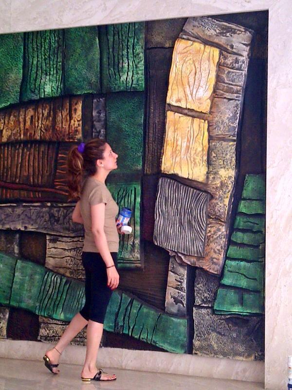Lobby Mural at Kalpataru Residency  Sion