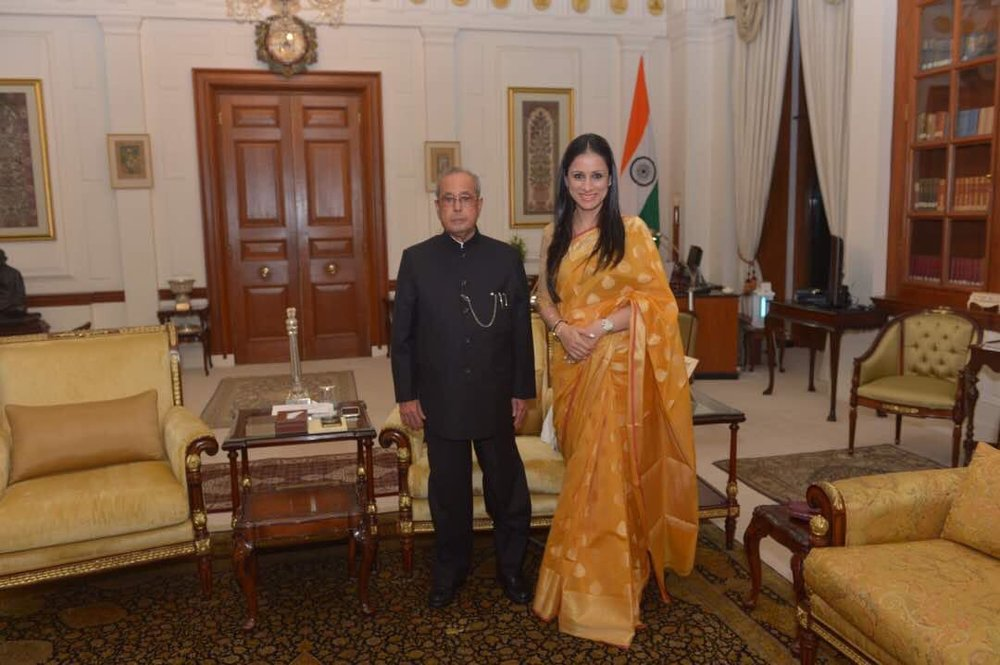 With President Pranab Mukherjee during my Exhibition at Rashtrapati Bhavan