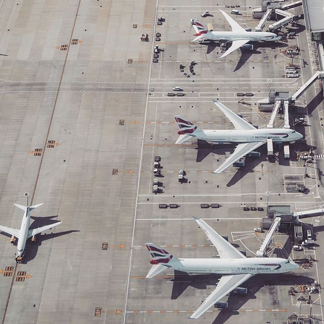 LHR from the skies 😍✈️✈️✈️@british_airways