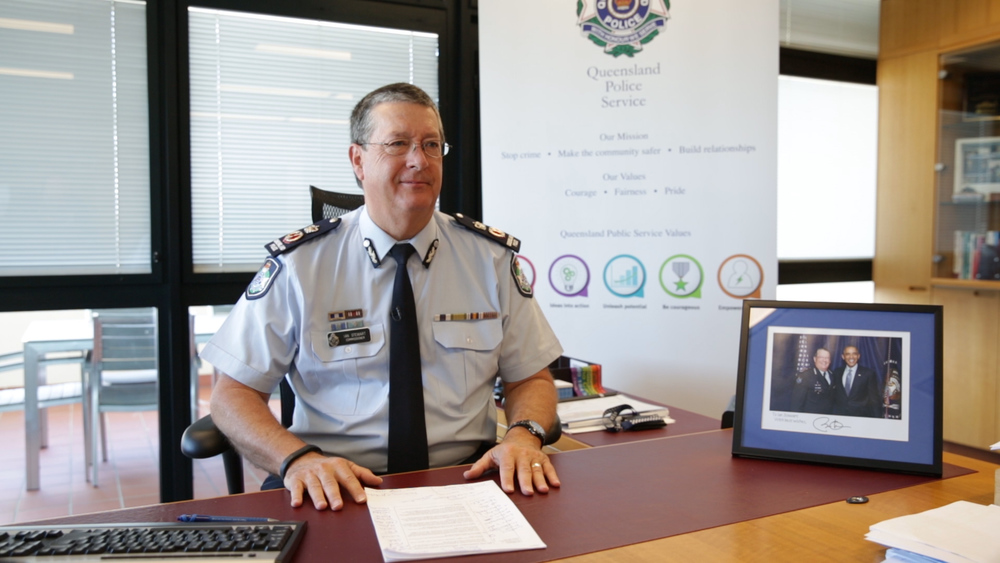 Ian Stewart, Commissioner of Police, Queensland Police Service.