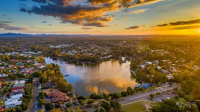 Golden hour at the lake #AerialPhotography #P4P #DJI #ForestLake #Drone #AEB #HDR