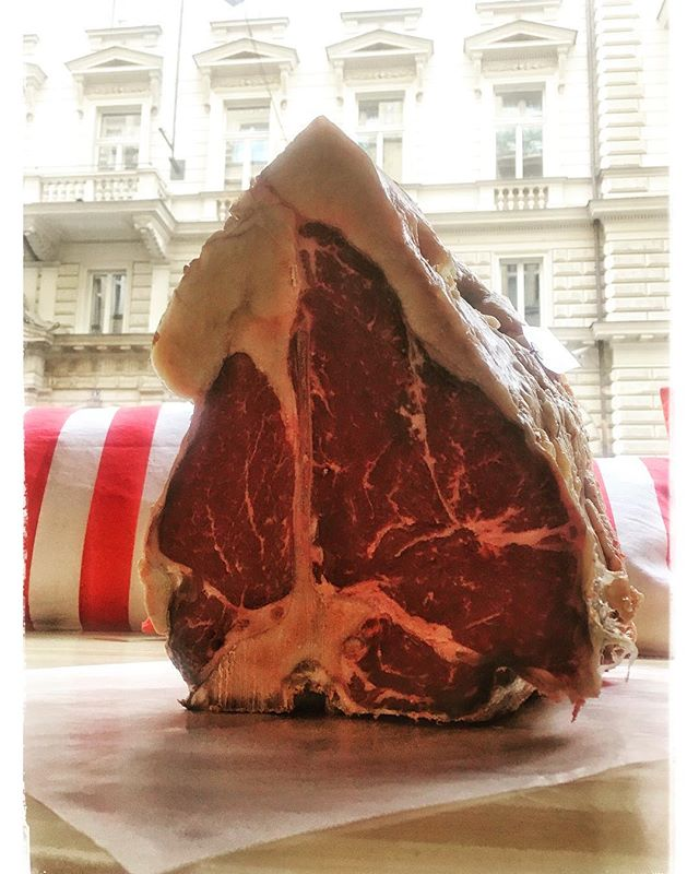 😲 90 day dry-aged Aberdeen Angus T-Bone! Grab one today whilst it lasts! A truly special piece of meat! 🥩 #aberdeenangus #dryaged #hovezi #beef #steak #bio #trms #slowgrown