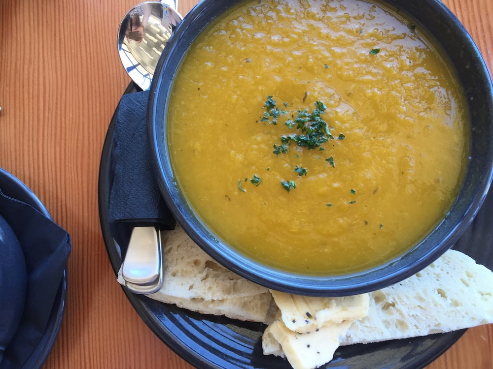 This was me least favourite meal in Tasmania, some very average pumpkin soup, with lavender butter, this was from the Port Arthur Lavender Farm on our trip home from Port Arthur.
