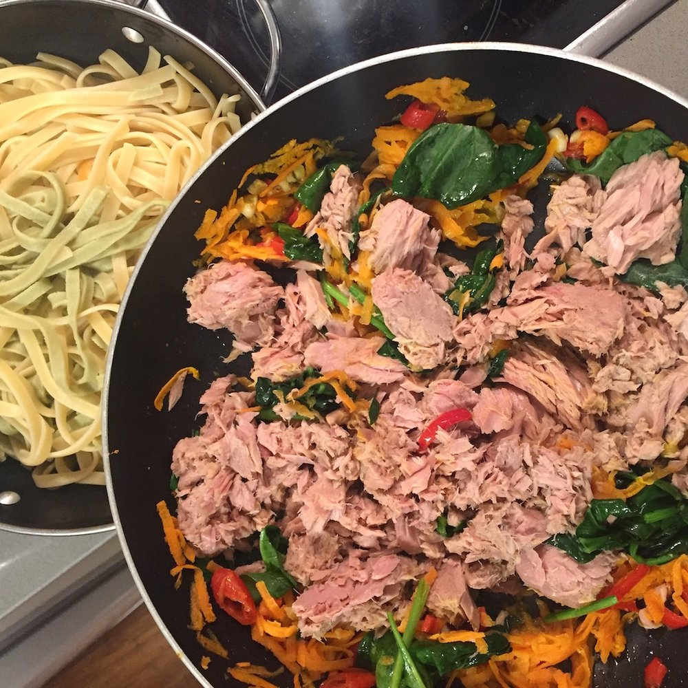 Super simple tuna pasta