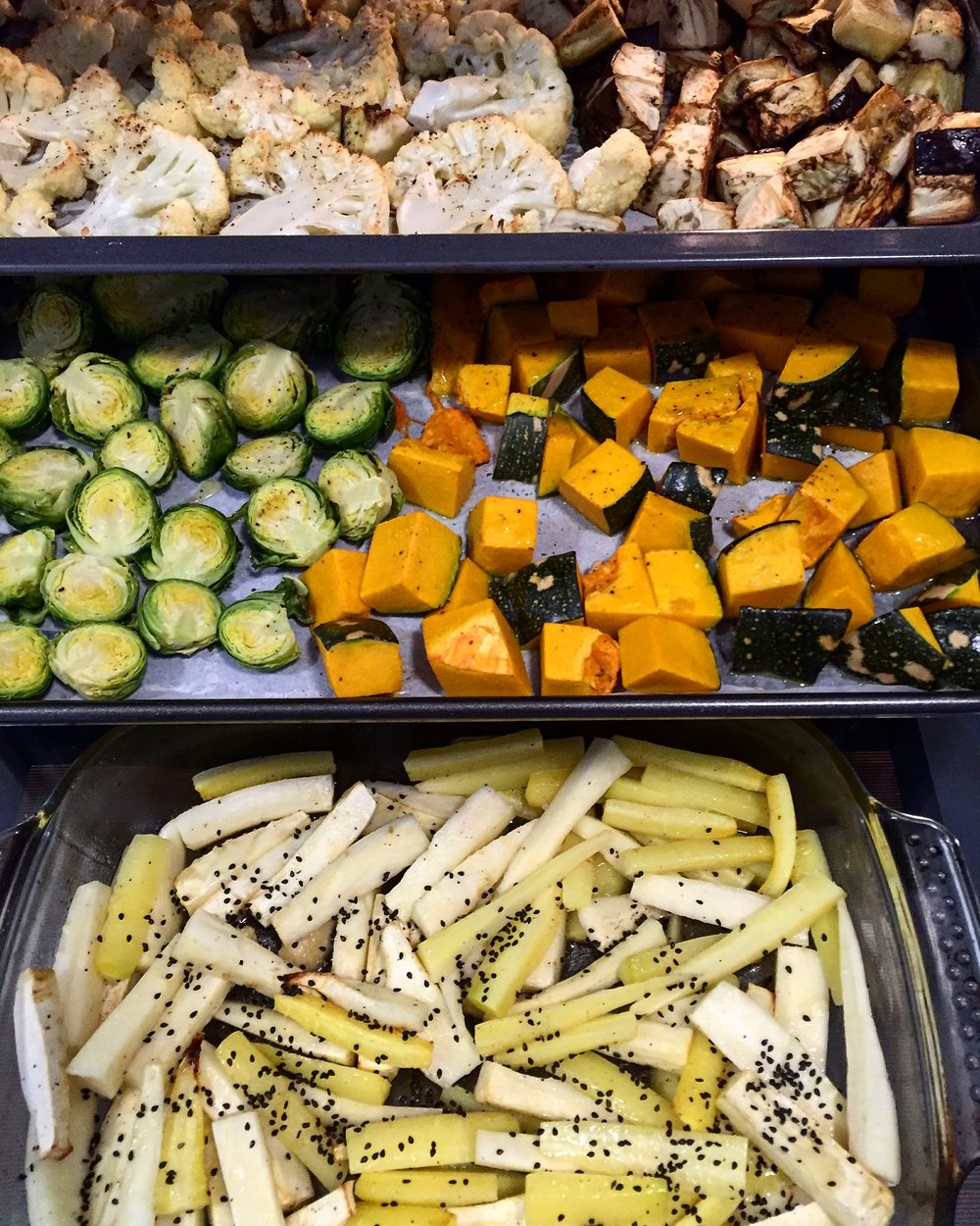 Seasonal baked veggies via  @casuarinaforsyth  Instagram