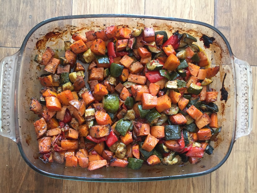 Delicious roast veggies