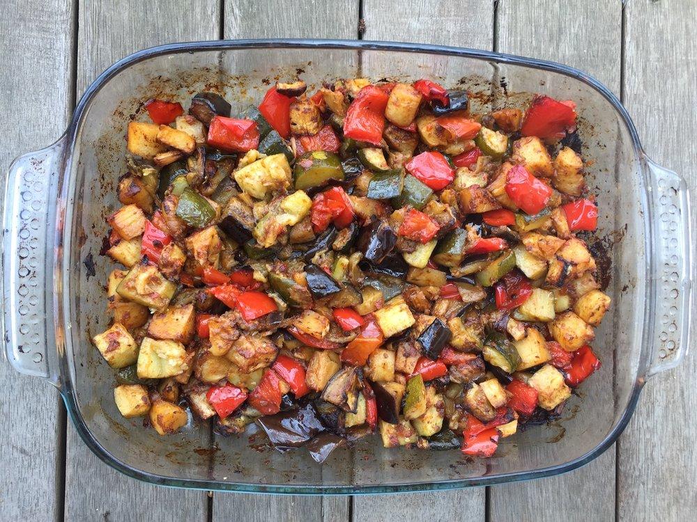 Tasty roast veggies straight from the oven