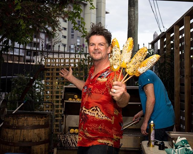 @nickusun loves things on sticks and he's got the ultimate vego option! Chargrilled corn with wasabi mayo and furikake. Get it at this year's #newtownfestival, Sunday November 12th.  #newtownlocals #newtownneighbourhoodcentre #doitforthelocals #newtownfestival2017
