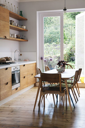 open kitchen, London kitchen, light space, living