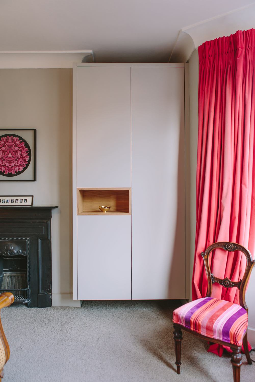 spray painted wardrobes, London design, carpentry, handmade