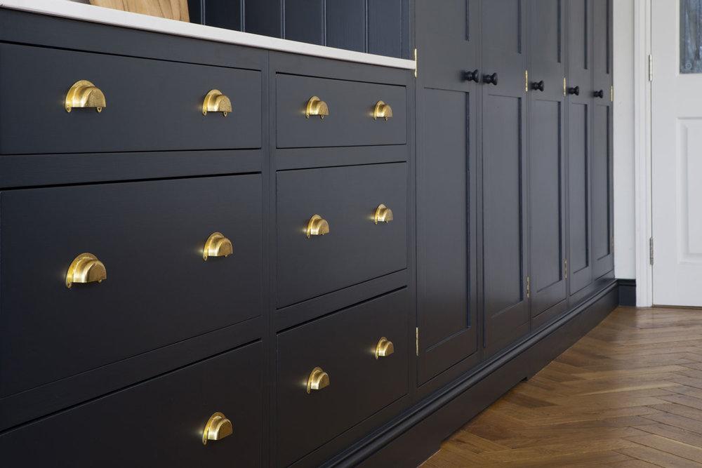 drawers, brass handles, bespoke design, victoriana