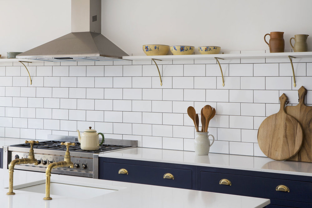 Shaker Kitchen Brass Handles Devol Style Inframe Bespoke Kitchen Design