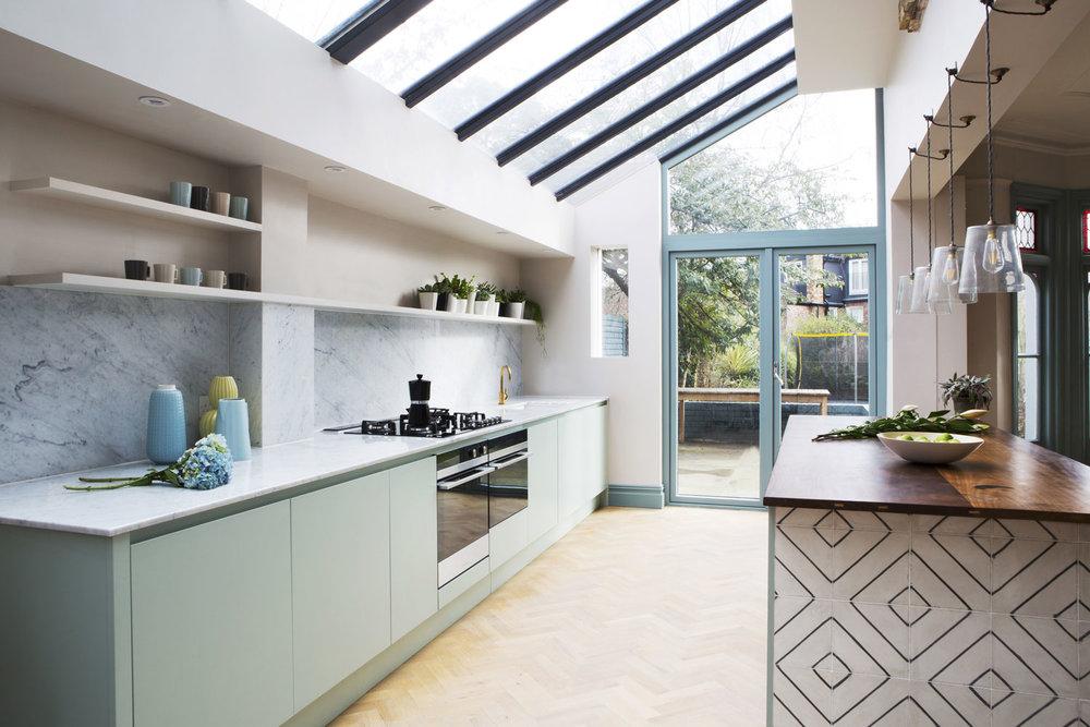 modern kitchen, stylish, bespoke design, west and reid, London, tiles