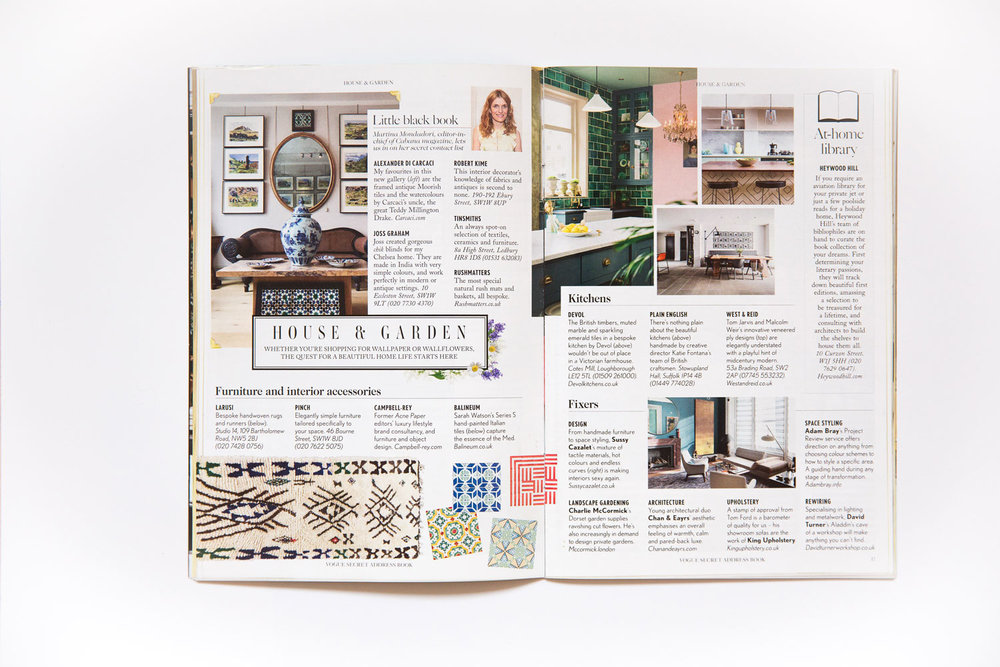 Vogue Secret Address Book interior pages