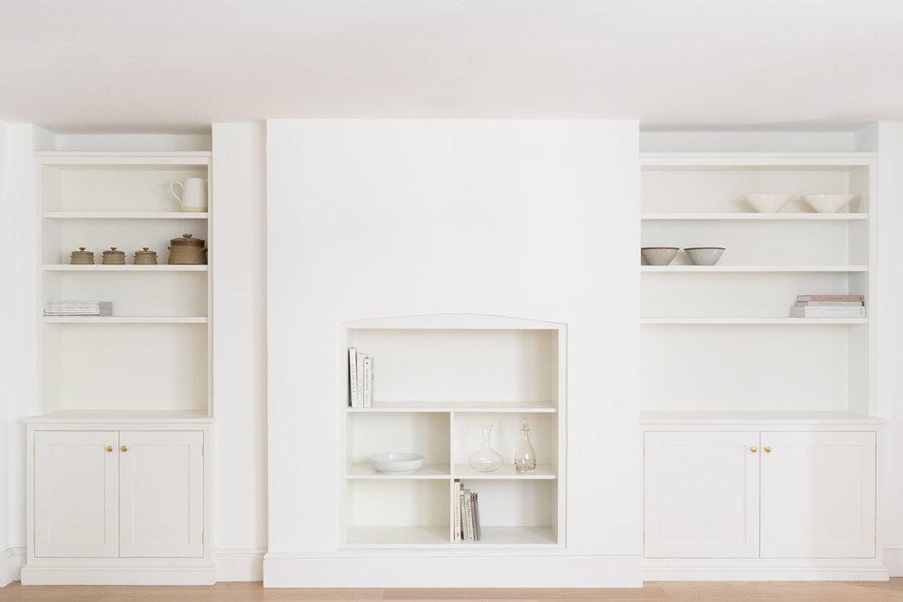 minimalist design, modern, bespoke, fitted cupboards, London, brass handles