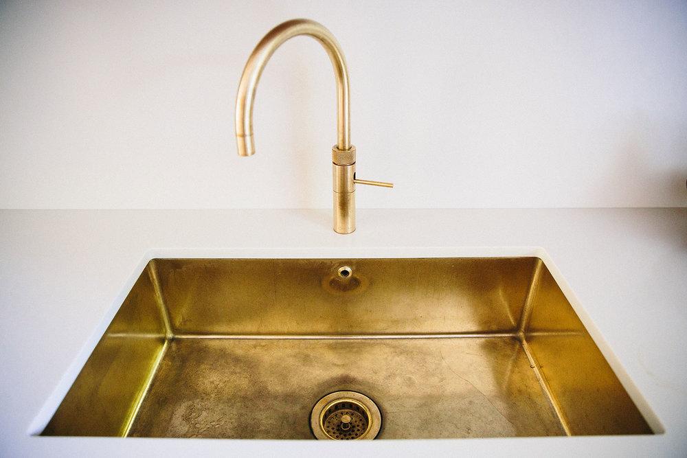 brass, kitchen sink, kitchens, bespoke