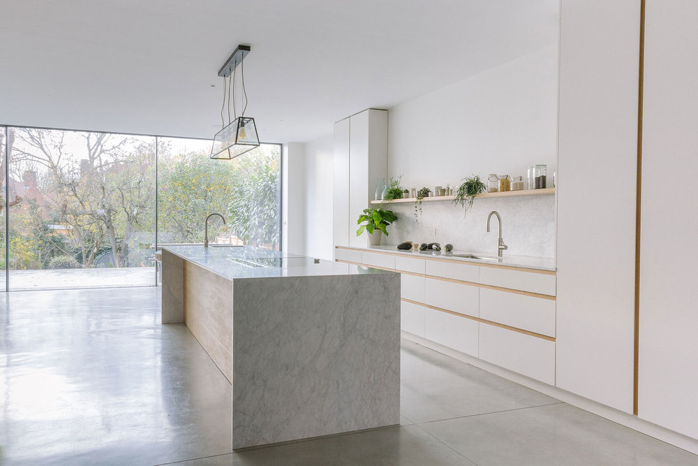 walnut cupboards, brass, bespoke kitchens, west and reid, interiors