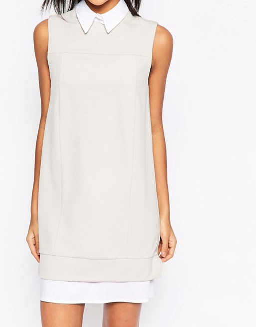 ASOS Shirt Detail Shift Dress