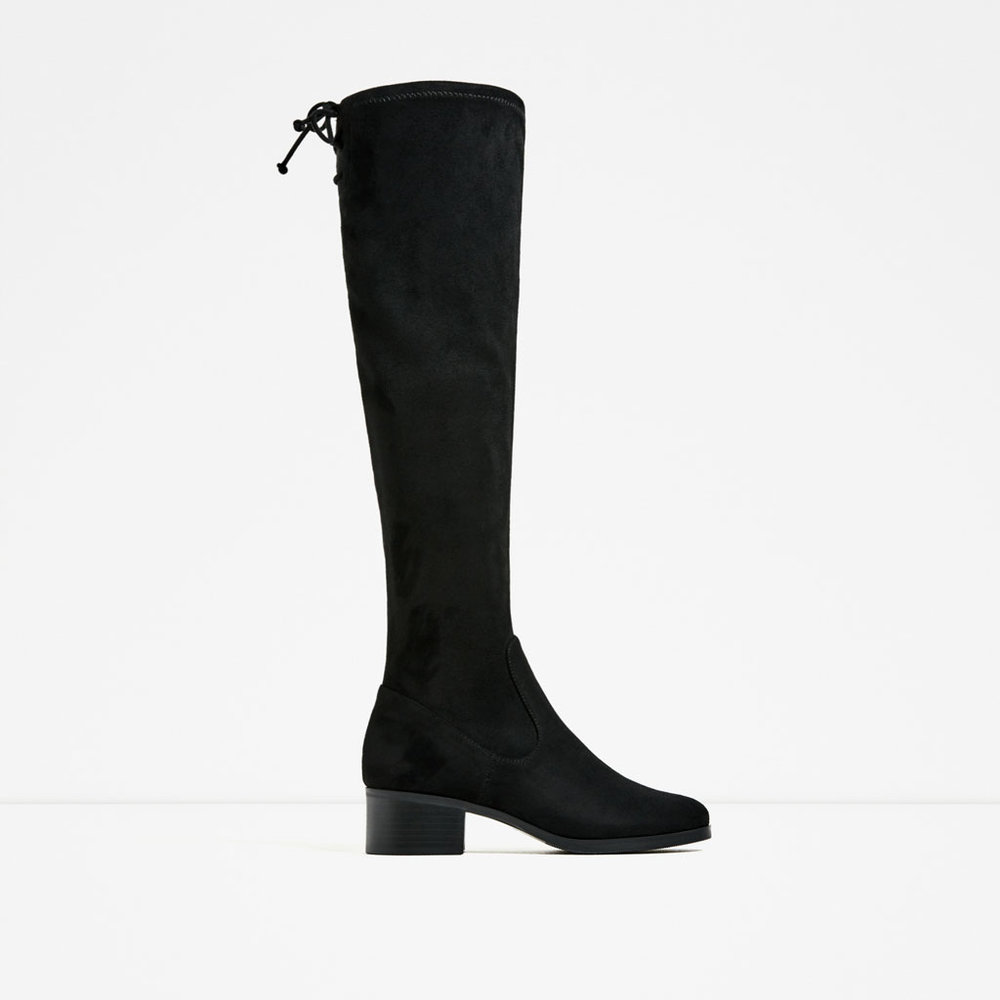 Zara Flat Over-the-Knee Boot