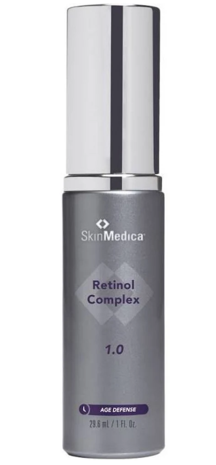 - SkinMedica Retinol Complex 1.0For those of you that know my Mom or have seen my Mom, you would listen to any skincare advice she had to give because she legitimately doesn't age. One of the first things she recommended I start including in my skincare routine when I started to reach my mid-20's was a retinol. Retinoids work to increase cell turnover, stimulate collagen and elastin production, fade hyperpigmentation, and help skin stay hydrated. It is the perfect foundation to fight signs of aging. There are different levels of Retinol so if you are new to adding this into your skincare routine, I recommend you start with .05 to avoid over-drying your skin.