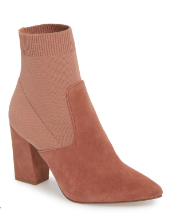 Sock boots are trending for next season and this suede/knit block heel is my pick if you are looking to test out the trend.