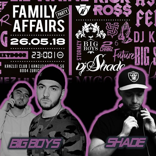 Tomorrow Family Affaires with the @bigboysmusic and our man @dj_shade at @kanzleiclub