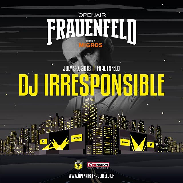 Catch ourboy @djirresponsible at the @openairfrauenfeldofficial 🍾 -------------------------------------------- cc: @the24club @picassopunk -------------------------------------------- #picassopunk #the24club #djlife #dj #crewlove #hdr #graphic #hiphop #rap #rnb #party #nightlife #nightout #weekend #goodtimes #music #love #instagood #jam #photooftheday #repeat #goodmusic  #oaff #openairfrauenfeld #openair #summer18 #bacardidome #bacardi #restlezz