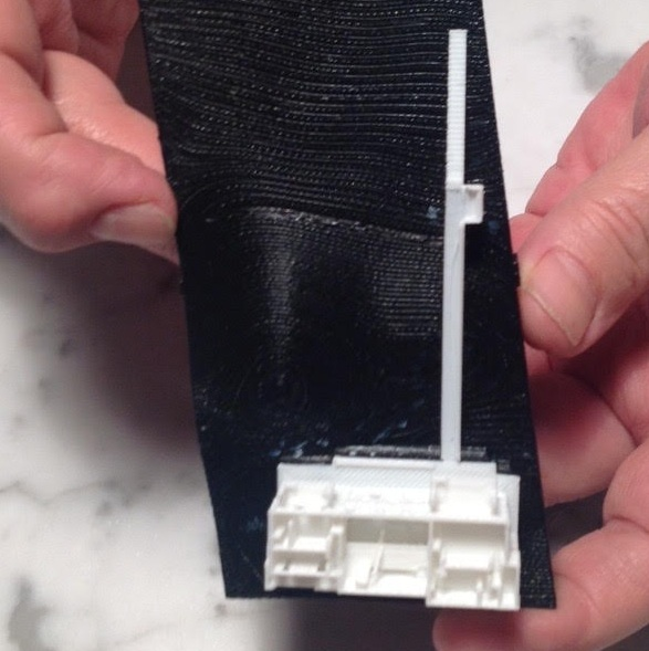 Pocket size model in 3D print of St. Augustine beach house.