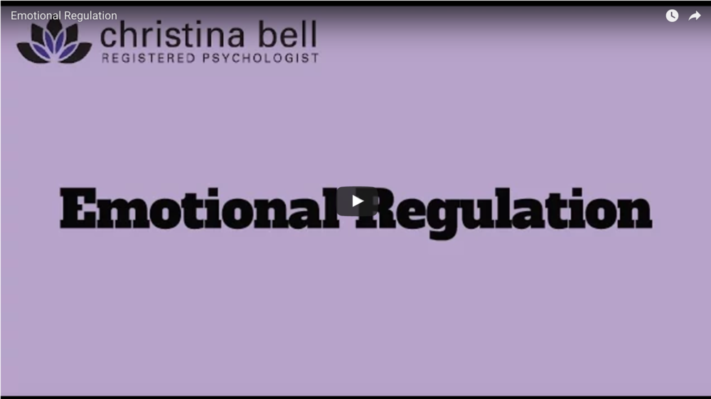 Christina bell - emotional regulation video