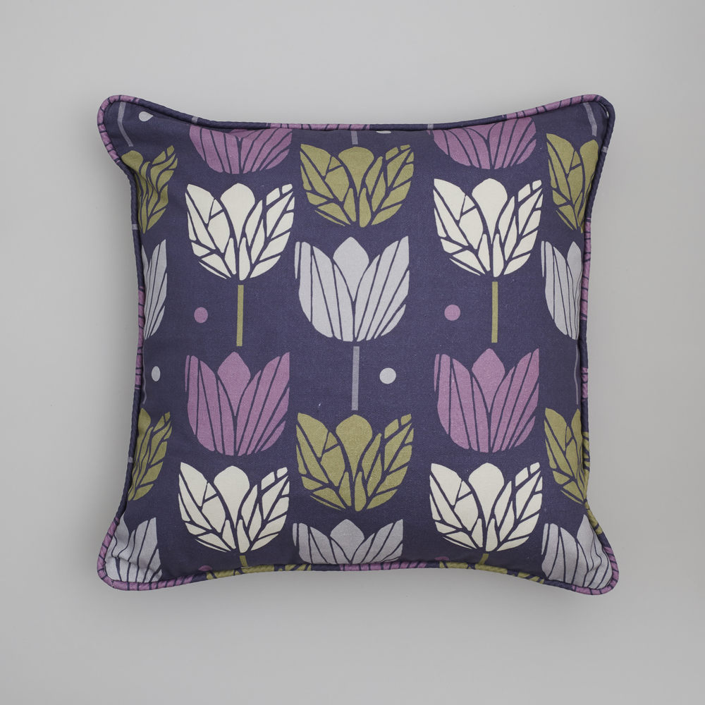 cushion in purple tulips fabric .jpg