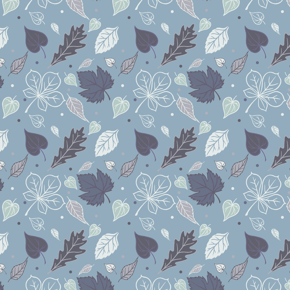 Leaf design blue