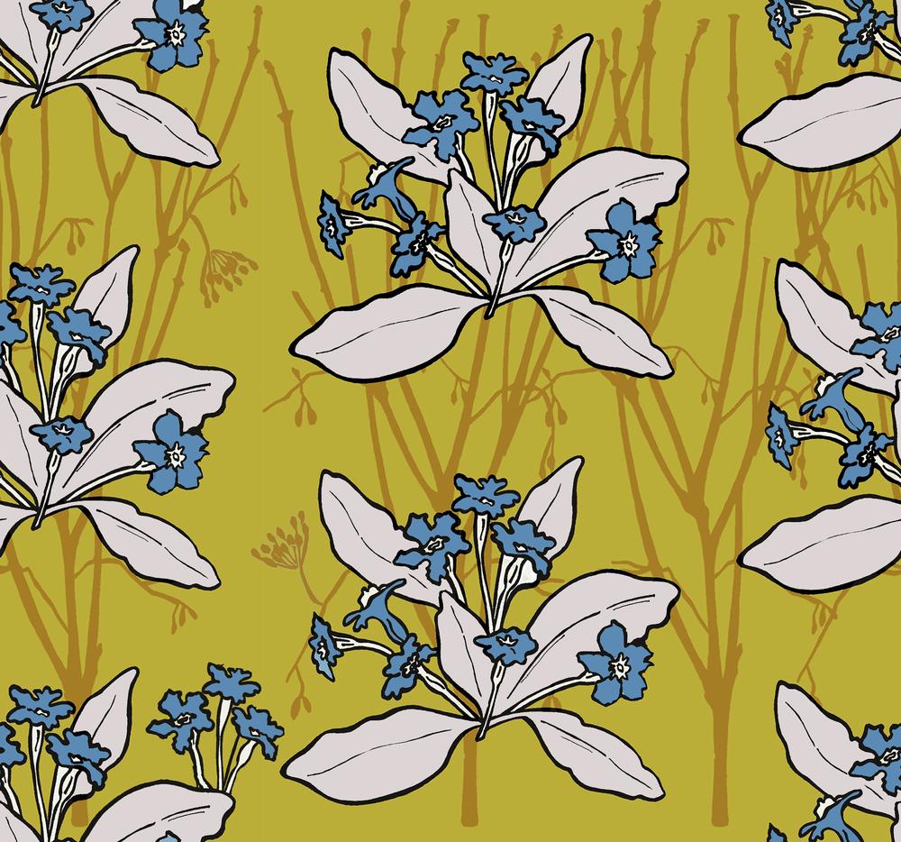 Primrose design mustard