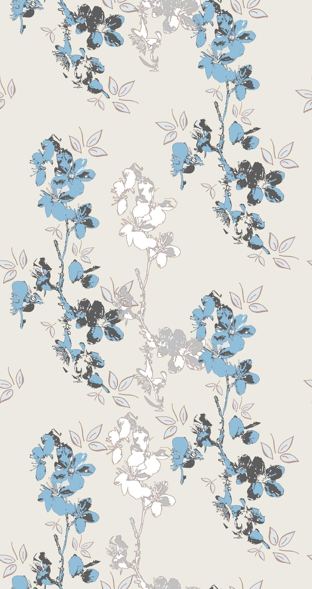 blossom design taupe