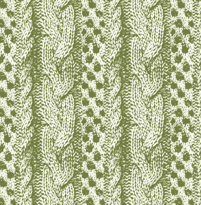 Knitting design green