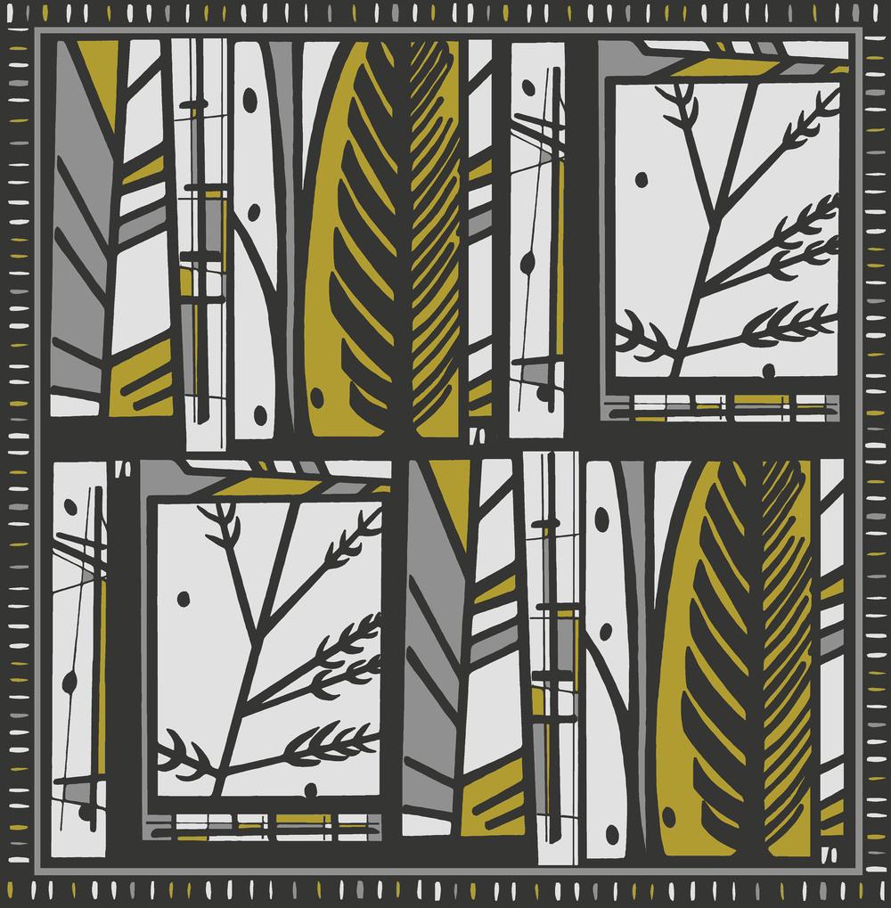 Forest design mustard