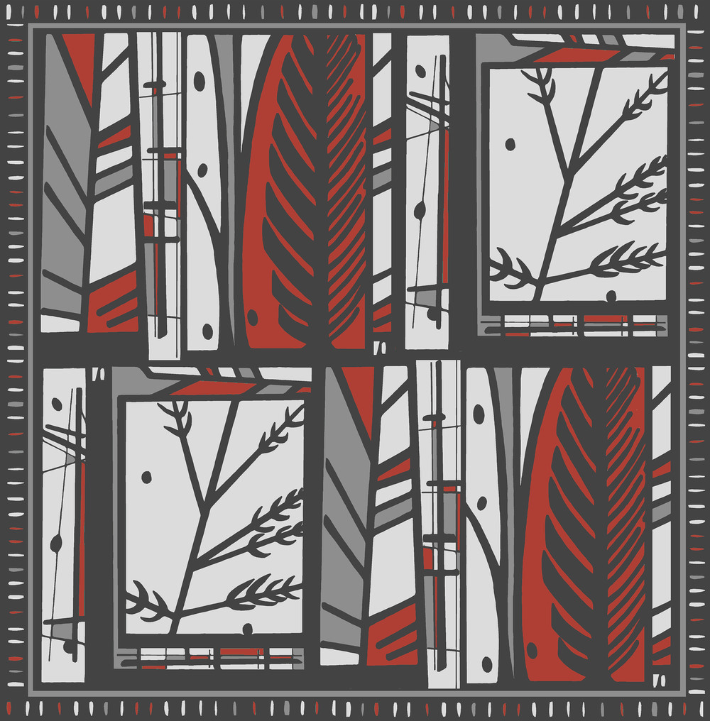 Forest design red