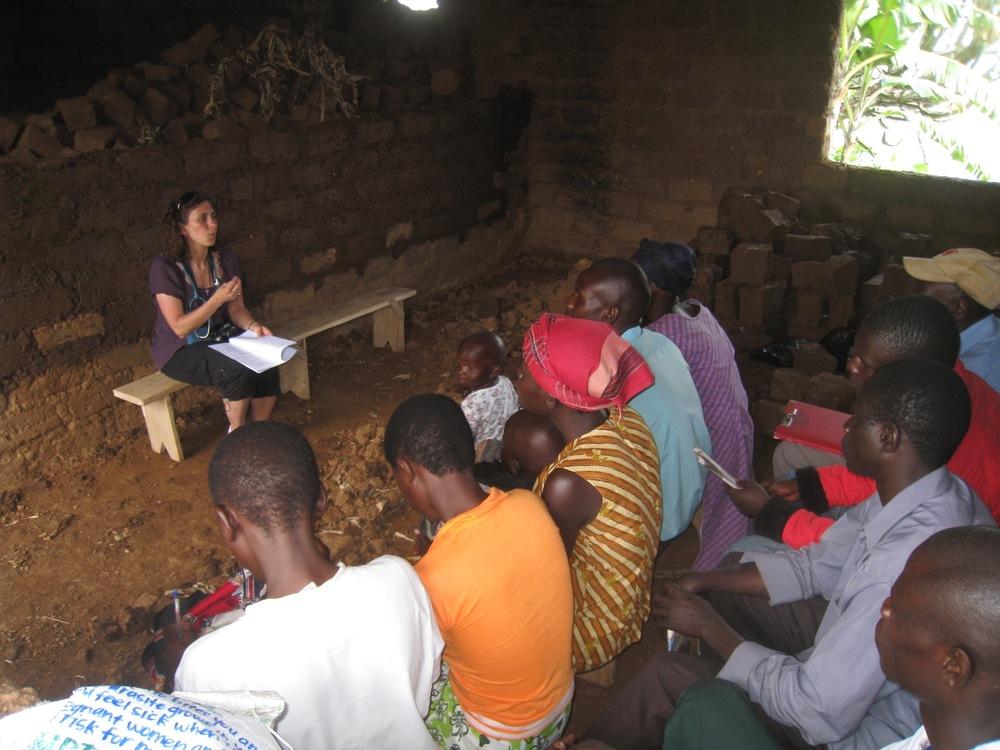 Dr. Traci Downs, SUNY, teaching VHT members from health curricula, Manafwa, 2013 (photo credit Lisa Umphrey)