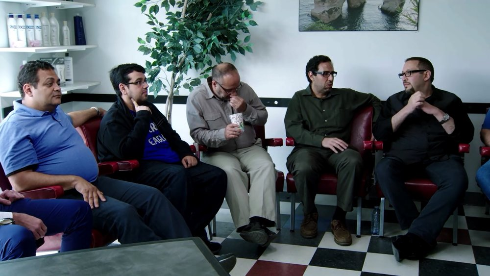Things Arab Men Say A barbershop session provides an antidote to main stream media's depiction of Arabs. Directed by Nisreen Baker. 2016 (52 mins)