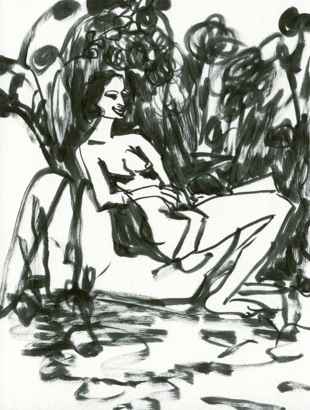 Attracting All The Hunks Like A Magnet /    Giving 'Em Eargasms With My Mellow Accent   Pen on paper  21 x 15 cm