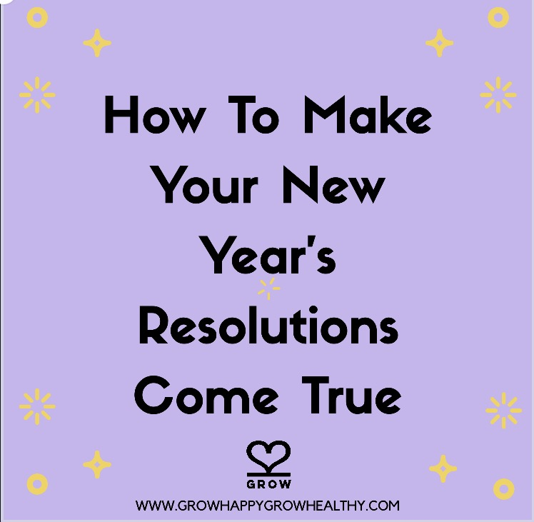 Creating New Years Resolutions that stick, with holistic health coach, wellness expert, nutrition expert, workplace wellness expert, and stress reduction expert Andrea Rennie of GROW