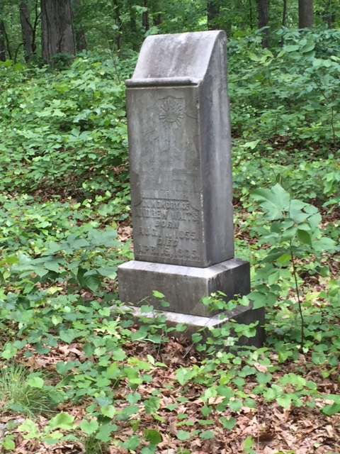 This is the headstone belonging to Andrew Waits. What a large headstone! This was rare for many African Americans during the early and mid-twentieth century.
