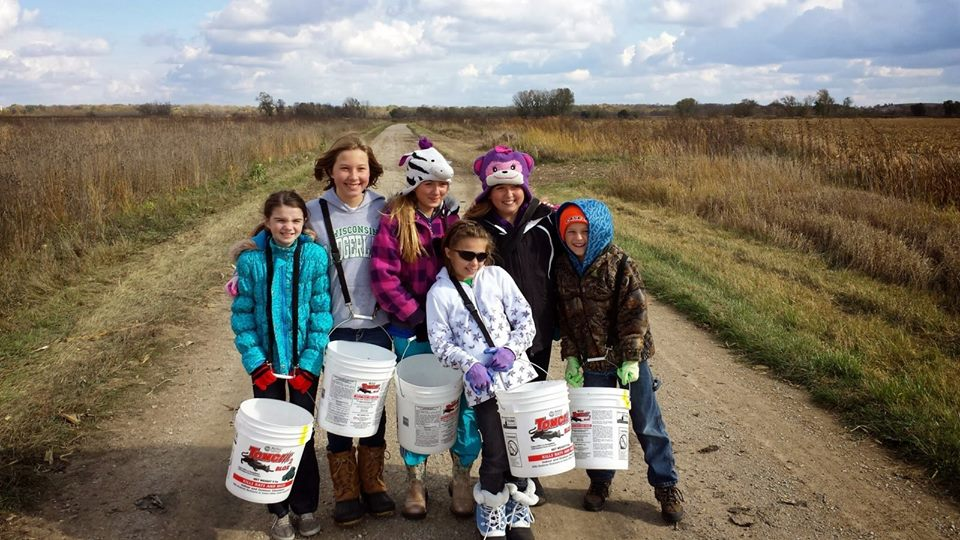 Collecting native prairie seeds for future restorations