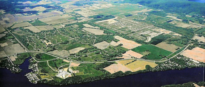 A view of the Badger Army Ammunition Plant grounds from the southeast. Photo from WI DNR webpage.